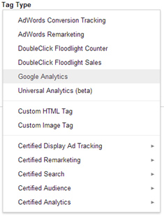 Google Tag Manager Types
