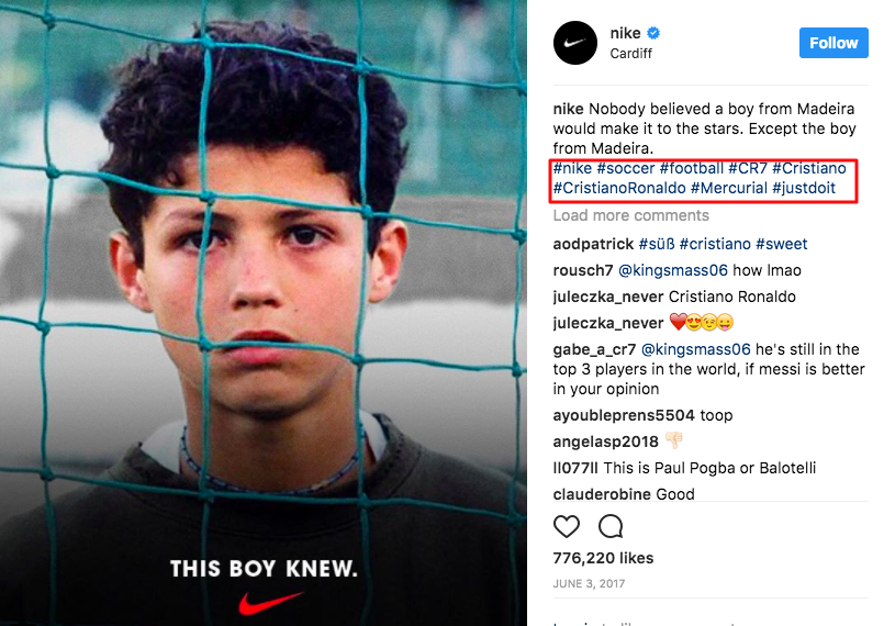 How Nike uses Instagram in 2018